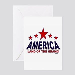 America Land Of The Grand Greeting Card