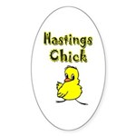 Hastings Chick Oval Sticker (10 pk)