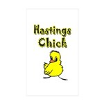 Hastings Chick Rectangle Sticker 10 pk)