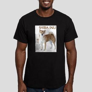 SHIBA INU Men's Fitted T-Shirt (dark)