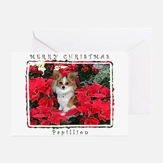 Papillion Christmas Greeting Cards (Pk of 10)