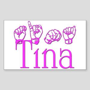 Tina Rectangle Sticker