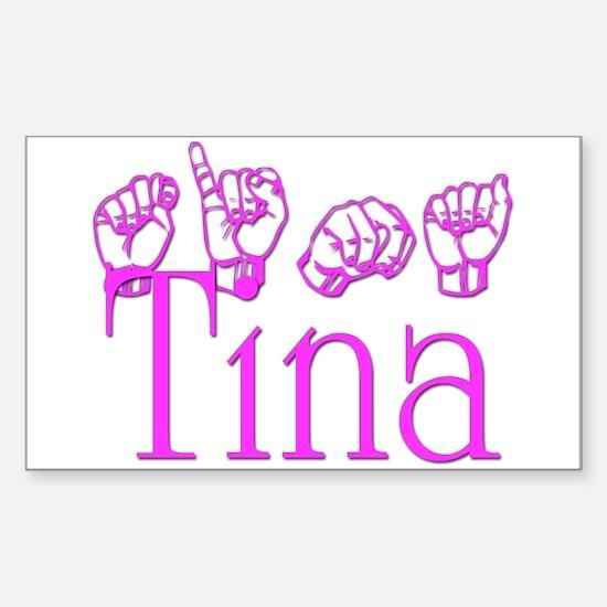 Tina Rectangle Decal