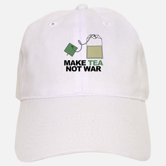 Make Tea Not War Baseball Baseball Cap