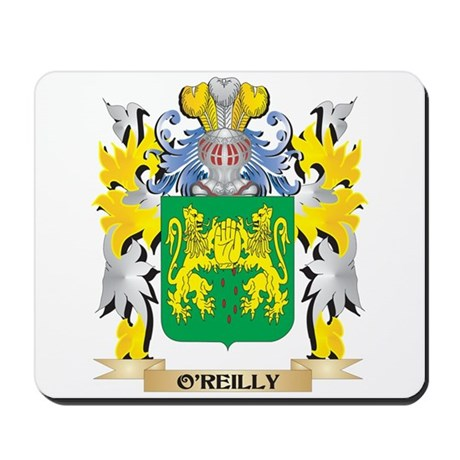 O'Reilly Family Crest - Coat of Arms Mousepad