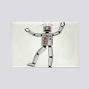 Party Robot Rectangle Magnet