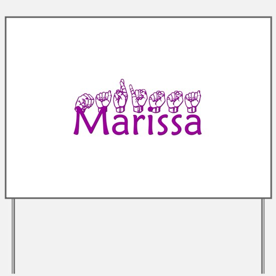 Marissa-txt Yard Sign