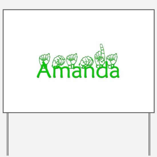 Amanda-grn Yard Sign