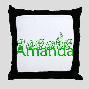 Amanda-grn Throw Pillow