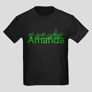 Amanda-grn Kids Dark T-Shirt