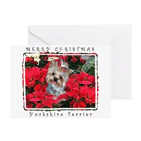 Yorkshire Terrier Yorkie Christmas Greeting Cards