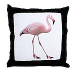 Flamingo Wearing Shoes Throw Pillow