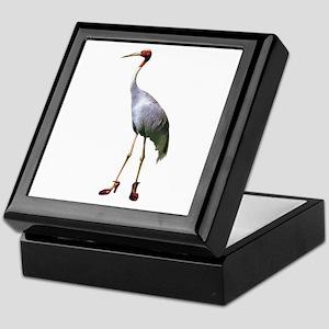 Sarus Crane Wearing Shoes Keepsake Box
