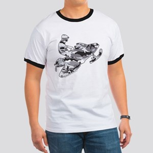 Camoflage Snowmobiler in Grey Ringer T