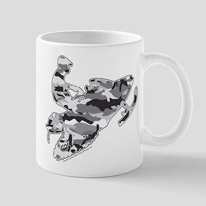 Camoflage Snowmobiler in Grey Mug