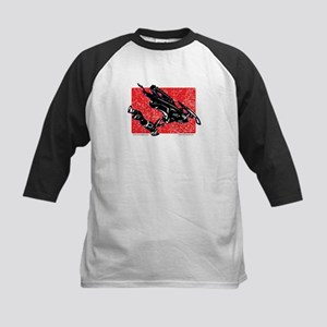 Gravity Snowmobiler in RED Kids Baseball Jersey