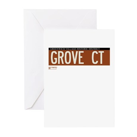 Grove Court in NY Greeting Cards (Pk of 20)