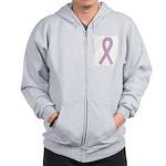 Lavender Ribbon Zip Hoodie