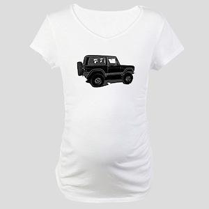 Classic Bronco Black Maternity T-Shirt