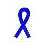 Blue Ribbon Rectangle Sticker 50 pk)