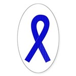 Blue Ribbon Oval Sticker (10 pk)