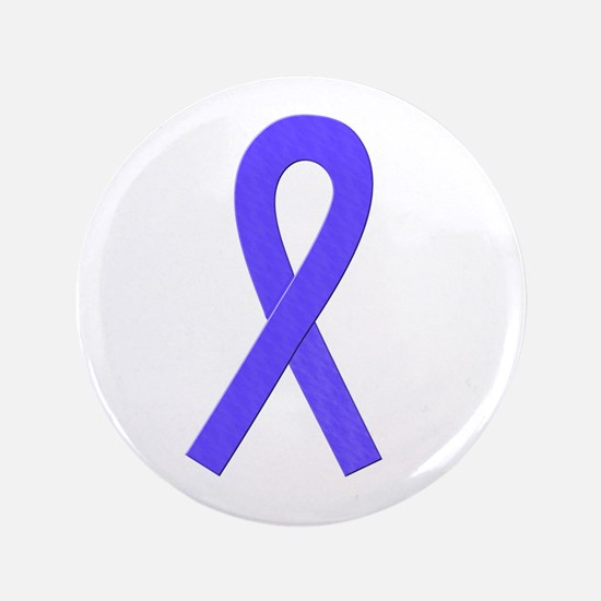 "Periwinkle Ribbon 3.5"" Button"