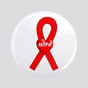 """Red Hope 3.5"""" Button"""