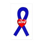 Blue Hope Rectangle Sticker 50 pk)