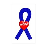 Blue Hope Rectangle Sticker 10 pk)