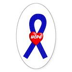 Blue Hope Oval Sticker (50 pk)