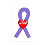 Violet Hope Rectangle Sticker 50 pk)