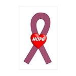 Burgundy Hope Rectangle Sticker 50 pk)