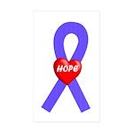 Periwinkle Hope Rectangle Sticker 10 pk)