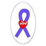 Periwinkle Hope Oval Sticker (50 pk)