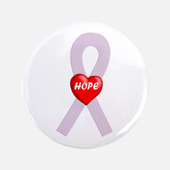"""Orchid Hope Heart 3.5"""" Button"""