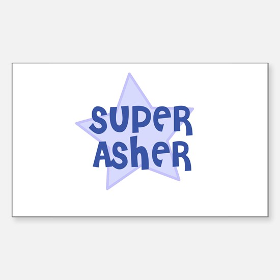 Super Asher Rectangle Decal