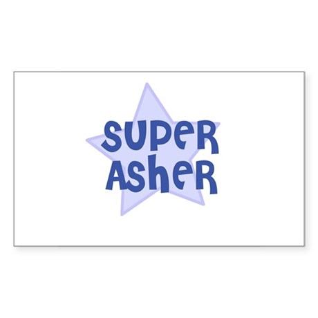 Super Asher Rectangle Sticker