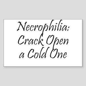 Necrophilia: Crack Open a cold one! Sticker (Recta