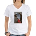 Red Butt Women's V-Neck T-Shirt