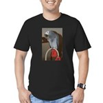 Red Butt Men's Fitted T-Shirt (dark)