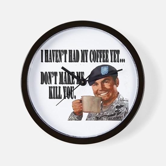 No Coffee Yet Wall Clock
