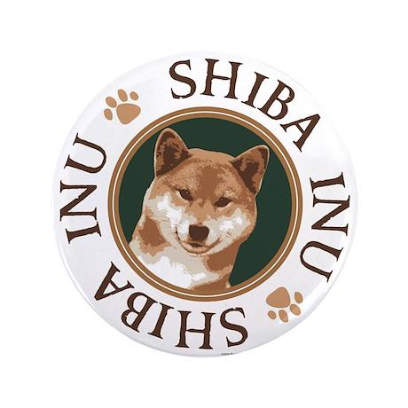 """ROWDY ROVER'S SHIBA 3.5"""" Button"""