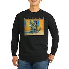 Cyprus, Green Zone Long Sleeve Dark T-Shirt
