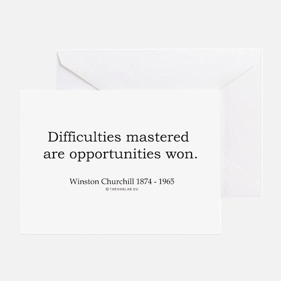Winston Churchill 5 Greeting Card
