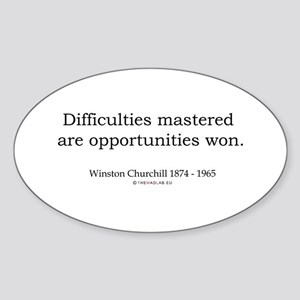 Winston Churchill 5 Oval Sticker
