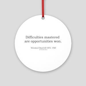 Winston Churchill 5 Ornament (Round)
