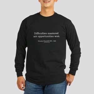 Winston Churchill 5 Long Sleeve Dark T-Shirt