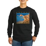 Cyprus, Aphrodite's Rocks Long Sleeve Dark T-Shirt