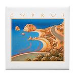 Cyprus, Aphrodite's Rocks Tile Coaster