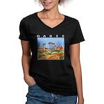 oasis Women's V-Neck Dark T-Shirt
